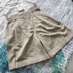 👗 cotton blend mom shorts